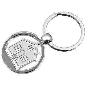 "HG15091304 Брелок ""Дом""; серебристый; 3,5х7,4х0,2 см; металл; лазерная гравировка"