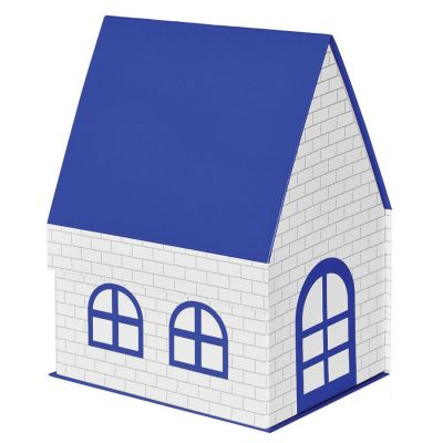 """HG1701511116 Коробка подарочная """"ДОМ""""  складная,  синий,  15*21*27 см,  кашированный картон, тиснение"""