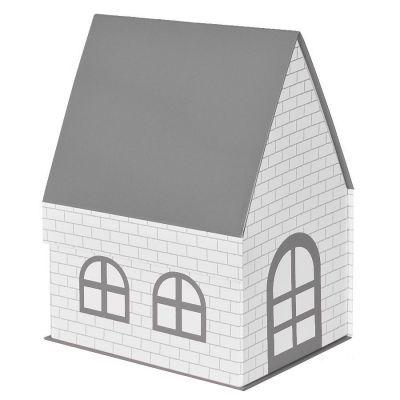 """HG1701511117 Коробка подарочная """"ДОМ""""  складная,  серый,  15*21*27 см,  кашированный картон, тиснение"""