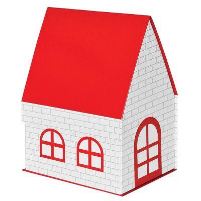 """HG1701511118 Коробка подарочная """"ДОМ""""  складная,  красная,  15*21*27 см,  кашированный картон, тиснение"""