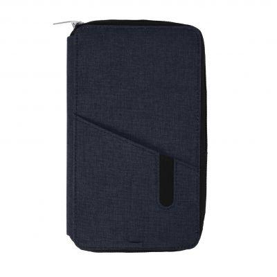 "HG184061163 Футляр дорожный с зарядным устройством (4000mAh)""Portable"",темно-синий,12х21х3см, полиэстер"