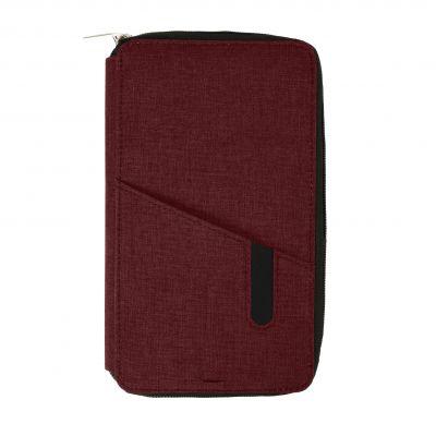 """HG184061164 Футляр дорожный с зарядным устройством (4000mAh)""""Portable"""",бордовый,12х21х3см, полиэстер"""