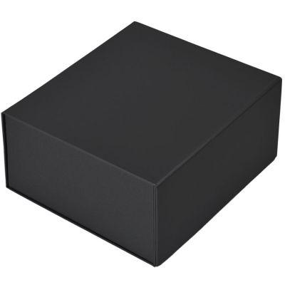 HG1509639 Коробка подарочная складная,  черный, 22 x 20 x 11cm,  кашированный картон,  тиснение, шелкогр.