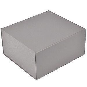 HG15091125 Коробка подарочная складная,  серебристый, 22 x 20 x 11cm,  кашированный картон,  тиснение, шелкогр.