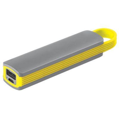 """HG170151150 Универсальное зарядное устройство """"Fancy"""" (2200mAh), серый с желтым, 12,9х2,7х2,2 см,пластик"""