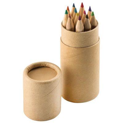 """HG170151162 Набор цветных карандашей (12шт) """"Игра цвета"""" в футляре, 3,5х10,3 см,дерево, картон"""