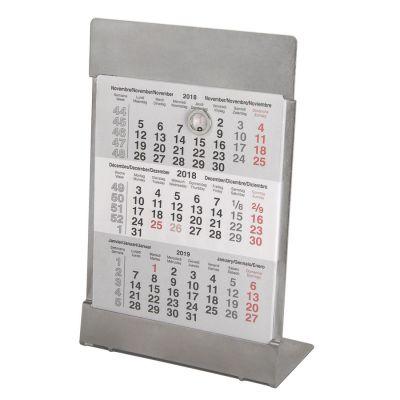 HG170151405 Walz. Календарь настольный на 2 года; размер 18*11,5 см, цвет- серебро, сталь