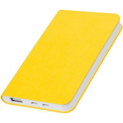 "HG1701511358 thINKme. Универсальное зарядное устройство ""Softi"" (4000mAh),желтый, 7,5х12,1х1,1см, искусственная кожа,пластик"