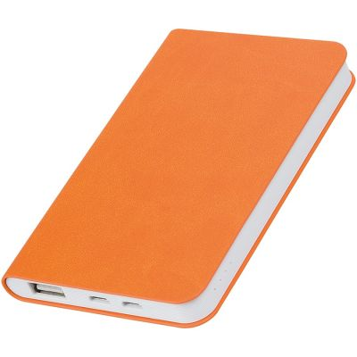 "HG1701511359 thINKme. Универсальное зарядное устройство ""Softi"" (4000mAh),оранжевый, 7,5х12,1х1,1см, искусственная кожа,пл"