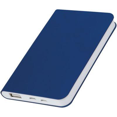 """HG1701511363 thINKme. Универсальное зарядное устройство """"Softi"""" (4000mAh), темно-синий, 7,5х12,1х1,1см, искусственная кожа"""