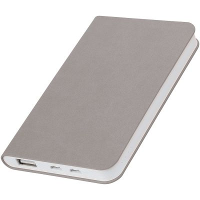 "HG1701511364 thINKme. Универсальное зарядное устройство ""Softi"" (4000mAh),серый, 7,5х12,1х1,1см, искусственная кожа,пласти"