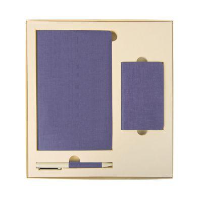 HG184061144 Набор подарочный PROVENCE; универсальное зарядное устройство(4000мАh), блокнот и ручка; сиреневый