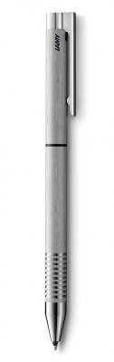 4001255 Ручка мультисистемная (черный+кар 0,5)  Lamy , Матовая сталь