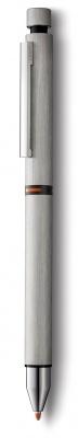 4001280 Ручка мультисистемная (черный+кар 0,5+маркер M55), Матовая сталь