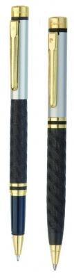 PC0860BP/RP Набор: ручка шариковая + роллер Pierre Cardin PEN and PEN, корпус - латунь со спец.матовым покрытием