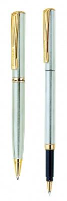 PC0865BP/RP Набор: ручка шариковая + роллер Pierre Cardin PEN and PEN, корпус - латунь. Отделка - матовое