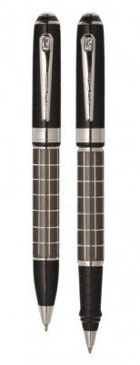 PC0878BP/RP Набор Pierre Cardin PEN&PEN:: ручка шариковая + роллер. Цвет - черный, серебро