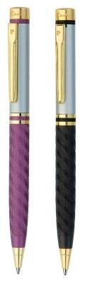 PC0880BP/BP Набор Pierre Cardin: ручка шарик, 2 шт (черная и сиреневая).