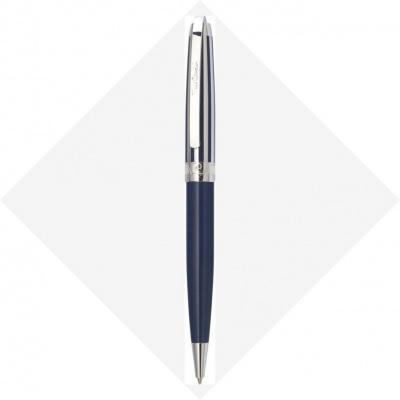 PC5009BP-B11 Шариковая ручка Pierre Cardin PROGRESS. Корпус - латунь, глянцевый лак; колпачок - контрастные полосы синего лака и хрома. Отделка и детали дизайна -