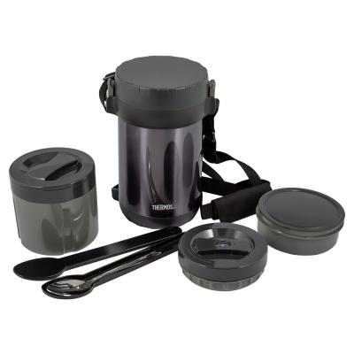 TM20051931 Thermos JBG. Термос из нерж.стали с пластиковыми контейнерами и ложкой тм THERMOS JBG-1800 Food Jar 1.8L
