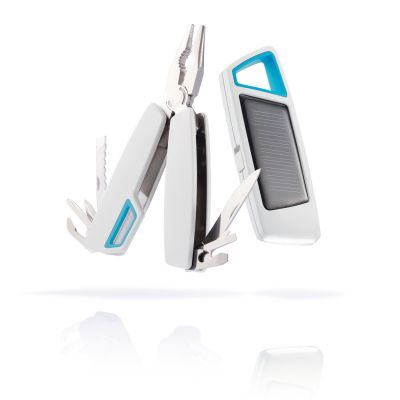 XI75615 XD Design. Набор Tovo: мультитул и фонарик на солнечной батарее, белый