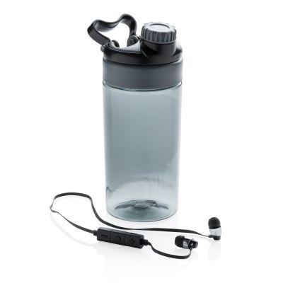 XI18406194 Бутылка для воды с беспроводными наушниками, черная