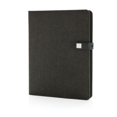 XI170190199 XD Design. Органайзер Kyoto с зарядным устройством и флешкой, черный