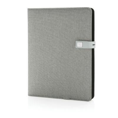 XI170190201 XD Design. Органайзер Kyoto с зарядным устройством и флешкой, серый