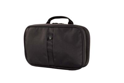 GR171113958 Victorinox Lifestyle and Travel Accessories. Несессер VICTORINOX Zip-Around Travel Kit, 3 отделения, чёрный, нейлон 800D, 28x8x18 см, 4 л