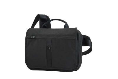 GR1711131462 Victorinox Lifestyle and Travel Accessories. Сумка VICTORINOX Adventure Traveler Deluxe горизонтальная, чёрная, нейлон 800D, 28x8x23 см, 5 л