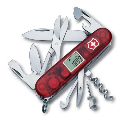 VX19N-RED26 Victorinox Traveller. Нож перочинный VICTORINOX Traveller, 91 мм, 27 функций, полупрозрачный красный