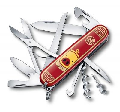 VX200512116 Victorinox Huntsman. Нож перочинный VICTORINOX Huntsman Год свиньи 2019, 91 мм, 16 функций, красный