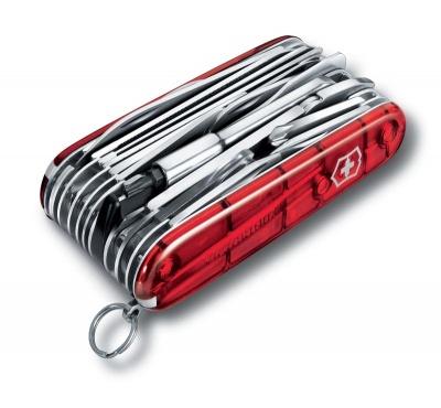 GR1711131053 Victorinox Swiss Champ. Нож перочинный VICTORINOX Swiss Champ XLT, 91 мм, 49 функций, полупрозрачный красный