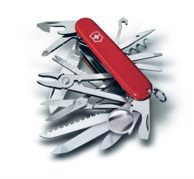 VX22N-RED4 Victorinox Swiss Champ. Нож перочинный VICTORINOX Swiss Champ, 91 мм, 33 функции, красный