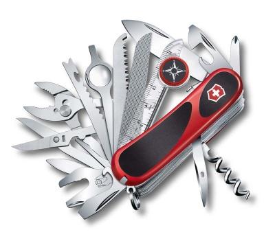 VX30N-RED4 Victorinox EvoGrip. Нож перочинный VICTORINOX EvoGrip S54, 85 мм, 32 функции, с фиксатором лезвия, красный/чёрный