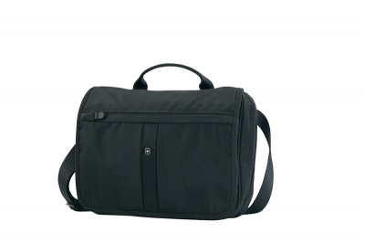 GR1711131472 Victorinox Lifestyle and Travel Accessories. Сумка VICTORINOX Adventure Traveler, с системой защиты RFID, чёрная, нейлон 800D, 27x8x22 см, 4 л