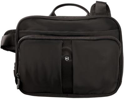 GR1711131485 Victorinox Lifestyle and Travel Accessories. Сумка наплечная VICTORINOX Travel Companion горизонтальная, чёрная, нейлон 800D, 27x8x21 см, 4 л