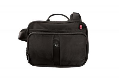 GR1711131464 Victorinox Lifestyle and Travel Accessories. Сумка VICTORINOX Travel Companion, с системой защиты RFID, чёрная, нейлон 800D, 27x8x21 см, 4 л