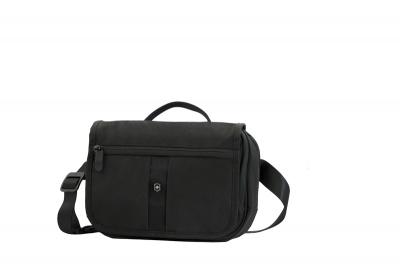 GR1711131483 Victorinox Lifestyle and Travel Accessories. Сумка наплечная VICTORINOX Commuter Pack горизонтальная, чёрная, нейлон 800D, 24x7x18 см, 3 л