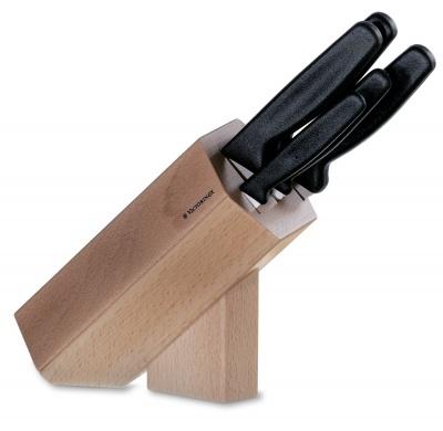 VX29S-BRN7 Victorinox Кухонная серия. Набор из 5 кухонных ножей VICTORINOX, в подставке из бука высотой 24,2 см