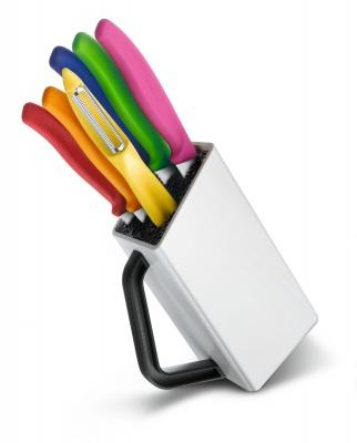 VX20051235 Victorinox SwissClassic. Набор из 6 ножей VICTORINOX: овощечистка, 3 ножа для овощей, столовый нож, нож для пиццы и стейка
