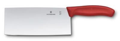 VX2005121 Victorinox SwissClassic. Нож сантоку VICTORINOX SwissClassic, прямое лезвие 18 см, красный, в подарочной коробке
