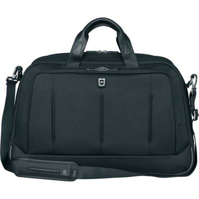 VX200512160 Victorinox VX One. Бизнес-сумка VICTORINOX VX One Business Duffel 15,6'', чёрная, нейлон 1000D/кожа, 54x20x34 см, 37 л