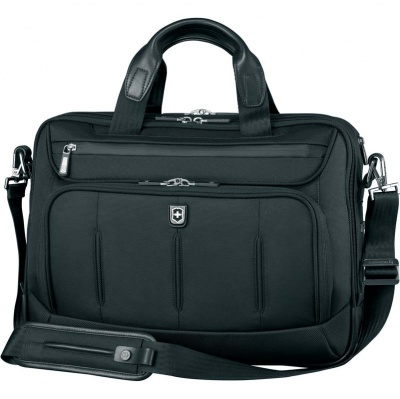 VX200512162 Victorinox VX One. Бизнес-сумка VICTORINOX VX One Laptop Folio 15,6'', чёрная, нейлон 1000D/кожа, 42x14x31 см, 18 л
