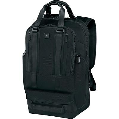 VX200512153 Victorinox Lexicon. Рюкзак VICTORINOX Lexicon Professional Bellevue 17'', чёрный, нейлон/кожа, 32x20x47 см, 30 л