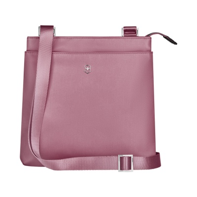 GR210919282 Victorinox. Сумка наплечная VICTORINOX Victoria Slim Shoulder Bag, пурпурно-розовая, нейлон/кожа, 27x7x26 см