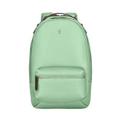 GR210919287 Victorinox. Рюкзак VICTORINOX Victoria Classic Business Backpack, мятный, нейлон/кожа/микрозамша, 27x21x41 см