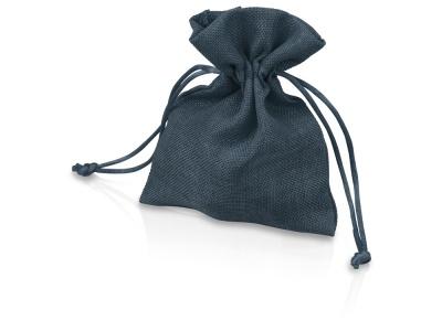 OA1701222976 Мешочек подарочный, искусственный лен, малый, темно-синий