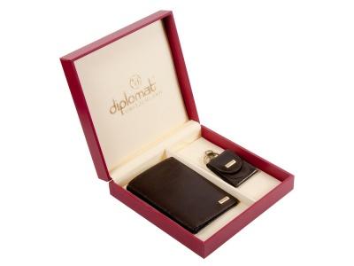 OA2003027523 Diplomat. Подарочный набор: мужское портмоне и  брелок монетница