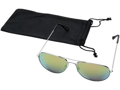 OA2003027625 Солнечные очки Aviator с цветными зеркальными линзами, зеленый